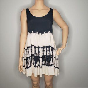 Lulu's Sleeveless Lightweight Tie Dye Tiered Dress